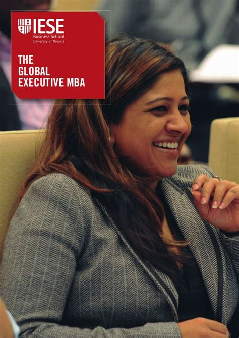 Global Executive Mba by Iese Global Executive Mba Brochure