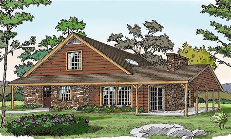Rustic Vacation Home Plans by Rustic Vacation Home With A Big Porch 3860ja