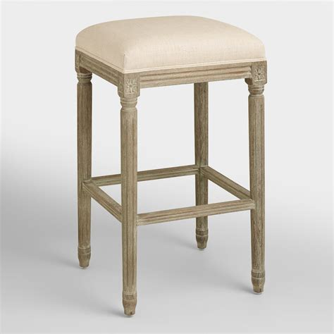 linen bar stools kirklands linen backless barstool world market