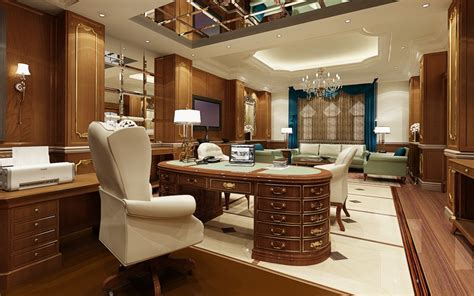 executive office executive office with ps volume effect tutorials render