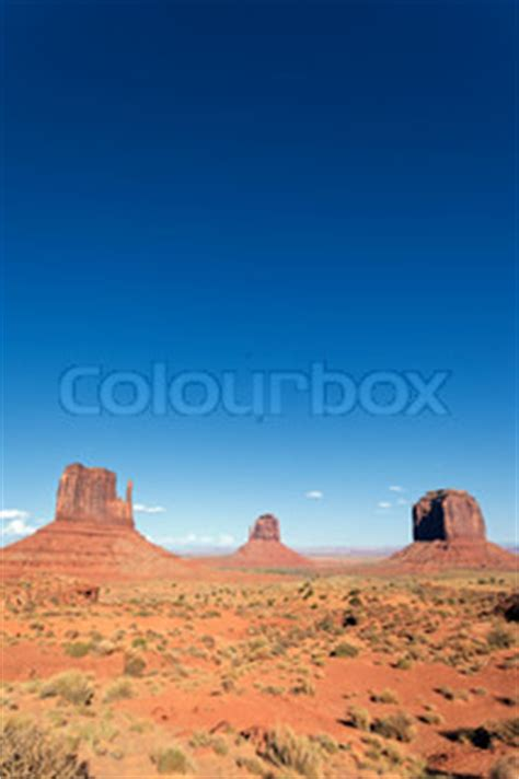 vertical view of famous landscape of monument valley, usa