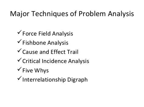 Problem Analysis introduction to problem analysis