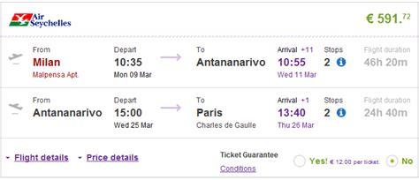 cheap open jaw flights  madagascar  europe