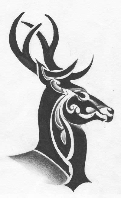 tribal elk tattoo designs tribal deer by ltatt2 deviantart on deviantart