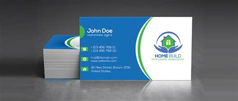 real estate business card design templates 15 free real estate business card templates designazure