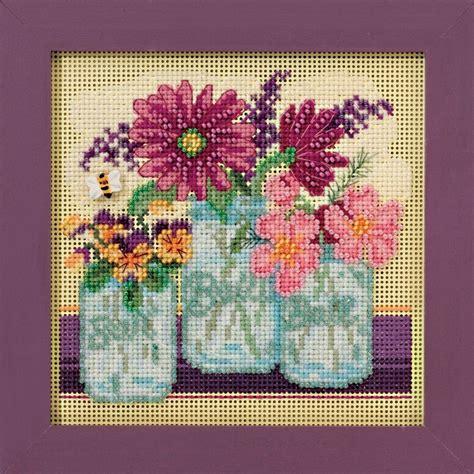 cross stitch kits cut flowers cross stitch kit mill hill 2016 buttons mh141611 ebay