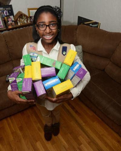 queens girl, 13, is city's top girl scout cookie seller