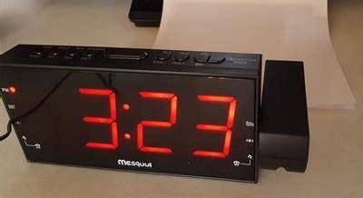 review mesqool am fm digital dimmable projection alarm clock radio wirelesshack