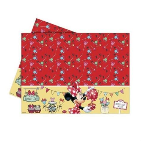 minnie mouse table cover minnie cafe plastic tablecover partyspot