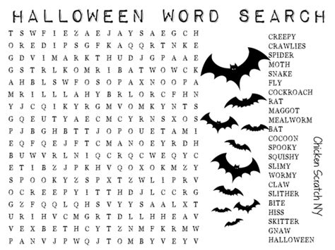 printable word search halloween wordsearch archives chicken scratch ny