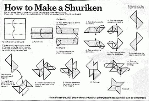 How To Make A Shuriken Out Of Paper - origami