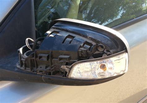 volvo   damaged driver side mirror motor vehicle maintenance repair stack exchange