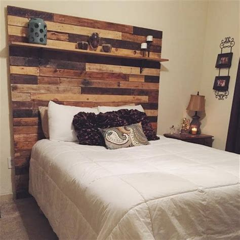 Wood Pallet Headboard Diy Wooden Pallet Headboard Styles Pallets Designs