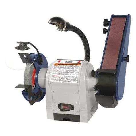 bench belt grinder dayton combination belt and bench grinder 120v 49h006 zoro com