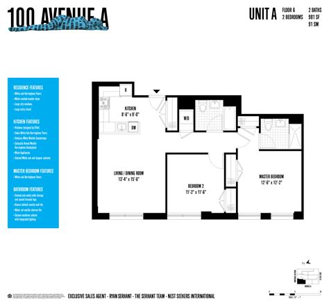 100 gold 6th floor luxurious east new development 100 avenue a 2 br