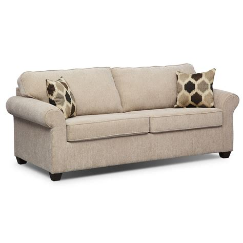 Sofa Sleeper By Furniture by Fletcher Innerspring Sleeper Sofa Beige Value