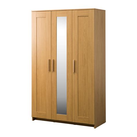 Brimnes Armoire by Brimnes Wardrobe With 3 Doors Oak Effect 117x190 Cm