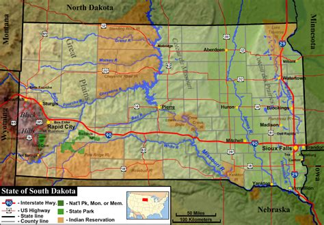 map of sd file south dakota general map 1 png wikimedia commons