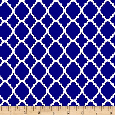 Washing Upholstery Fabric Quatrefoil Royal White Discount Designer Fabric Fabric Com