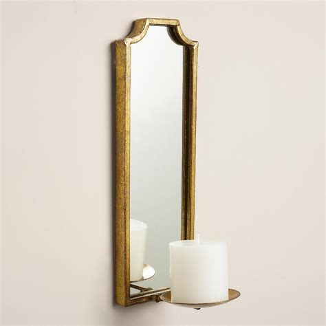 Gold Sconces Antique Gold Rectangular Sconce
