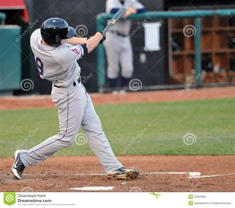 batter swing minor league baseball batter editorial stock photo
