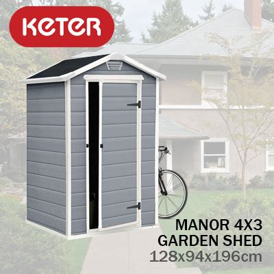 Keter Manor 4x3 Shed by Qoo10 Keter Manor 4x3 Garden Shed 128wx94dx196hcm