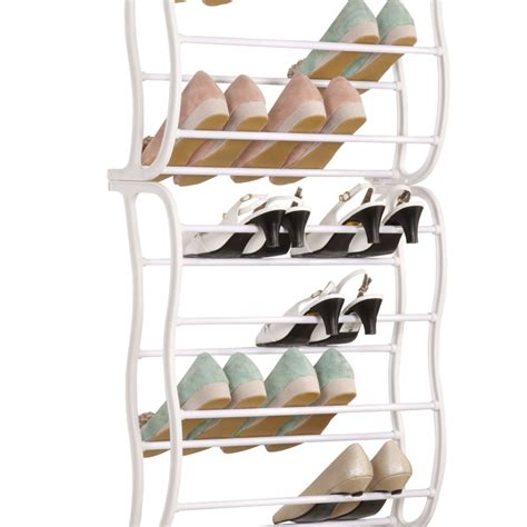 Closet Door Shoe Rack 36 Pair 12 Layers The Door Shoe Rack Metal Frame Home Closet Storage Ebay