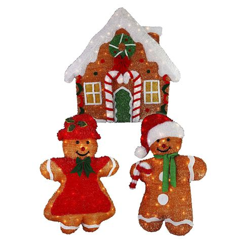 Outdoor Gingerbread House Decorations by 36in 2d Chenille Gingerbread House Set Seasonal