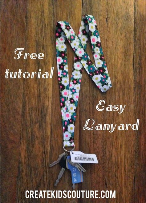 fabric crafts quick fabric lanyard tutorial and easy free patterns
