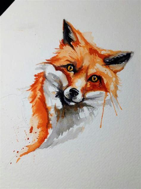watercolor fox pattern fox tattoo tattoo illustrations pinterest