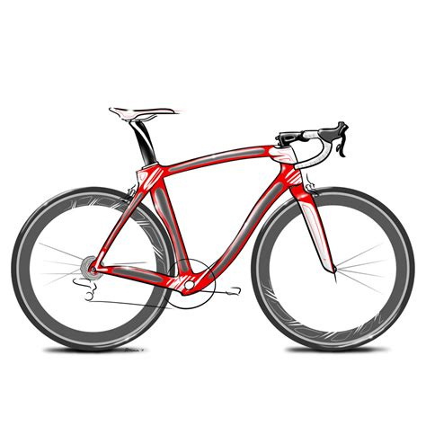 road bike simple road bike drawing