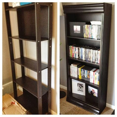 bookcase with crown molding ikea hackers laiva bookcase turned fancy tips tricks