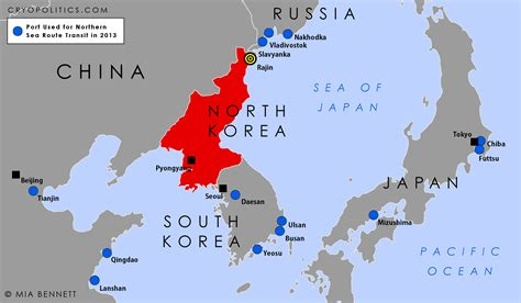 North Korea On World Map by North Korea And The Northern Sea Route Cryopolitics