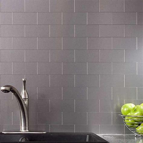 stainless steel stick on backsplash peel and stick stainless steel backsplash tiles 3 x 6