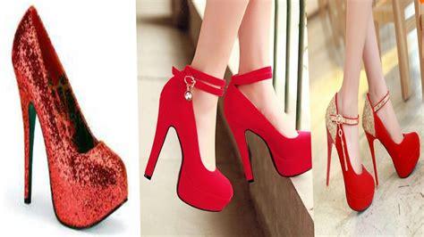 imagenes de zapatillas hermosas zapatillas bonitas rojas altas tendencia 2017 youtube