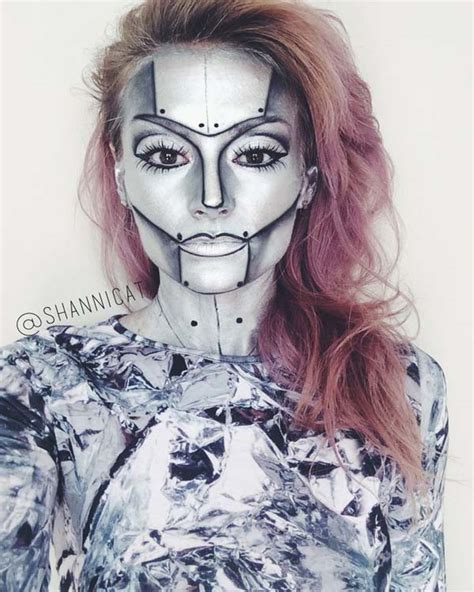 tutorial makeup robot 35 disgusting and scary halloween makeup ideas on