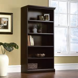 bookshelves black library 5 shelf bookcase in estate black 412177