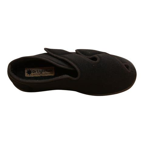 memory foam slipper boots dr lightfoot mens memory foam velcro washable slipper