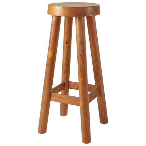 Pine Bar Stool by Perriand High Pine Bar Stool From Hotel Le