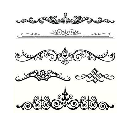 header and footer design vector free header ornament vector 187115 by vectormikes on