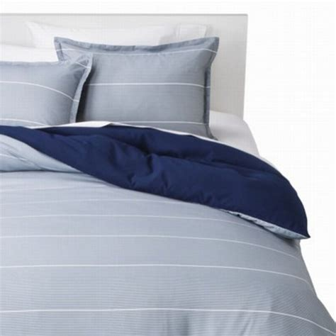 room essentials bedding room essentials twin xl blue gray thin stripe reversible