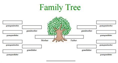 free family tree template word blank family tree template 31 free word pdf documents