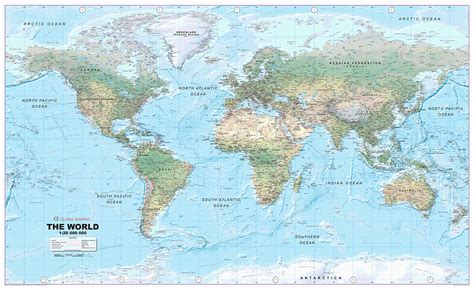 world map world physical map size 1 20m scale locked pdf