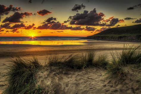 nature landscape scenery sky sunset beach ocean sunrise