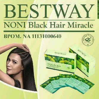 Bestway Noni Black Hair Miracle jual bestway noni black hair miracle bpom eceran per