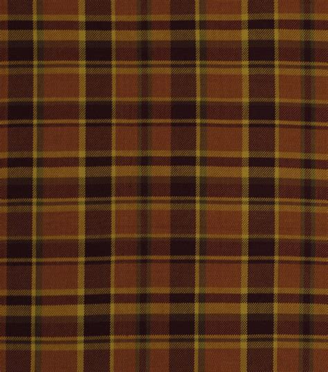 Plaid Home Decor Fabric Home Decor Fabric Robert Allen Hopsack Plaid Persimmon Fabric Jo