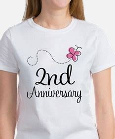 2nd wedding anniversary 2nd wedding anniversary t shirts