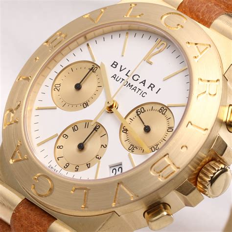 Bulgari Bvlgari Gold bvlgari diagono chronograph ch35g 18k yellow gold