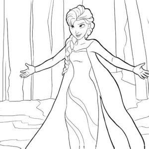 elsa snowflake coloring page elsa the snow queen making snowflakes coloring page elsa