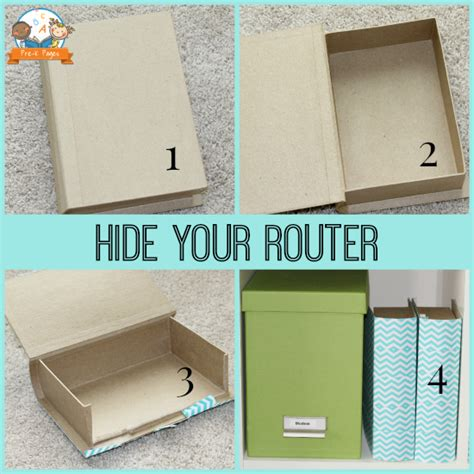 cabinet for router and modem summer storage and organization blues